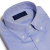 Classic Fit, Button Down Collar, 2 Button Cuff Shirt in a Plain Mid Blue Oxford Cotton