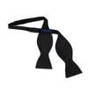Black Barathea Silk Bow Tie