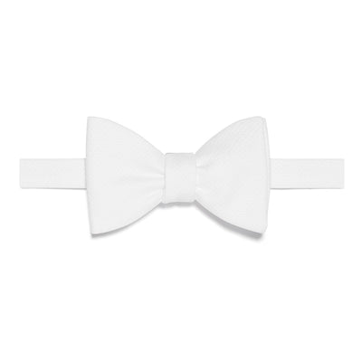 White Marcella Cotton Bow Tie