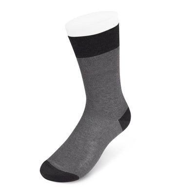 Dark Grey & White Pin Dot Cotton Short Socks