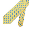 Yellow Paisley Printed Silk Tie