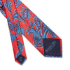 Red Large Paisley Printed Silk Tie