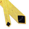 Yellow Small Flowers Woven Silk Tie