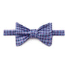 Lilac, Navy, Blue & Light Blue Circles Silk Handmade Bow Tie