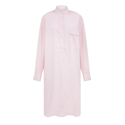 Ladies Plain Pink Cotton Nightshirt