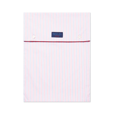Pink With Blue Stripe With Red Piping 100% Cotton Nightshirt
