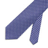 Purple With Blue Overcheck Printed Silk Tie