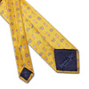 Yellow Paisley Bean Printed Silk Tie