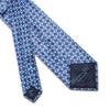 Purple With Blue Diamonds Printed Silk Tie
