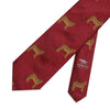 Big Cat Sanctuary Cheetah Woven Silk Tie In Red