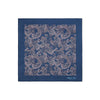 Navy 100% Cotton Handkerchief With Lilac Paisley