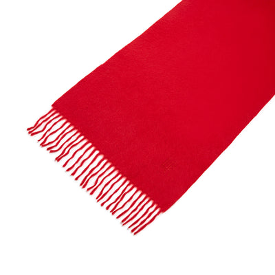 Regal Red 100% Cashmere Scarf With Embroidary