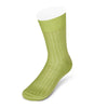 Short Plain Light Green Cotton Socks