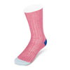 Pink Cotton Socks with Contrast Heel & Toe
