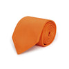 Plain Orange Woven Silk & Cotton Tie