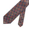 Brown Diamonds Printed Silk Tie