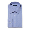 Contemporary Fit, Classic Collar, 2 Button Cuff Shirt in a Blue & White Stripe Poplin Cotton