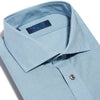 Contemporary Fit, Cut-away Collar, 2 Button Cuff Shirt in a Navy & Blue Check Poplin Cotton