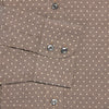 Contemporary Fit, Cutaway Collar, Two Button Cuff Shirt In Brown And Cream Spots