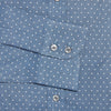 Contemporary Fit, Cut-away Collar, 2 Button Cuff Shirt in a Navy & Blue Spot Herringbone Cotton
