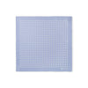 Blue With White Spots Silk Handkerchief