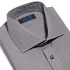 Contemporary Fit, Cut-away Collar, 2 Button Cuff Shirt in a Black & White Dot Check Twill Cotton
