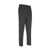 Charcoal POW Check Woollen Trousers