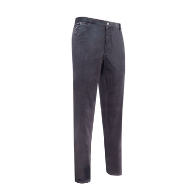 Black Cotton Corduroy Trousers