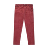 Burgundy Cotton Corduroy Trousers