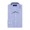 Classic Fit, Classic Collar, 2 Button Cuff Shirt in a Blue & White Medium Bengal Poplin Cotton