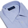 Classic Fit, Classic Collar, Double Cuff Shirt in a Blue & White Hairline Poplin Cotton