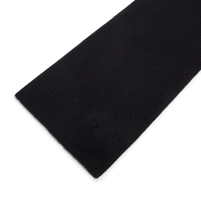 Black Ribbed 3Ply Cashmere Scarf