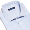 Contemporary Fit, Cut-away Collar, 2 Button Cuff Shirt in a Plain Navy & White Oxford Cotton