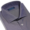Contemporary Fit, Cut-away Collar, 2 Button Cuff Shirt in a Navy Jacquard Twill Cotton