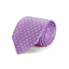 Lilac Printed Silk Tie with White Medium Spots