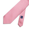 Pink Printed Silk Tie with White Pin Spots