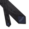 Black Printed Silk Tie with White Pin Spots