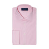 Contemporary Fit, Classic Collar, Double Cuff Shirt in a Plain Pink End-On-End Cotton