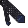 Black Twill with White Spots Woven Silk Tie