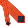Plain Orange Printed Silk Tie