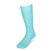 Short Plain Turquoise Cotton Socks