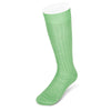 Long Plain Light Green Cotton Socks