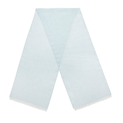 Pale Blue Plain Linen Scarf