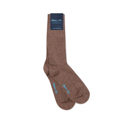 Short Mid Brown Heavy Sports Wool Socks