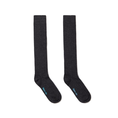 Long Grey Heavy Sports Wool Socks