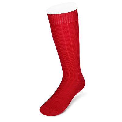 Long Red Heavy Sports Wool Socks