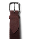 Burgundy Canvas Belt