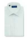 Contemporary Fit, Classic Collar, Double Cuff Shirt in a Plain White Sea Island Quality Poplin Cotton