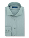 Contemporary Fit, Cut-away Collar, 2 Button Cuff Shirt in a Plain Grey Piquet Cotton