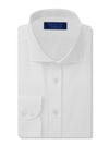 Contemporary Fit, Cut-away Collar, 2 Button Cuff Shirt in a White Textured Oxford Cotton